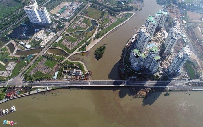 Thông xe cây cầu 500 tỷ qua đảo Kim Cương ở Sài Gòn